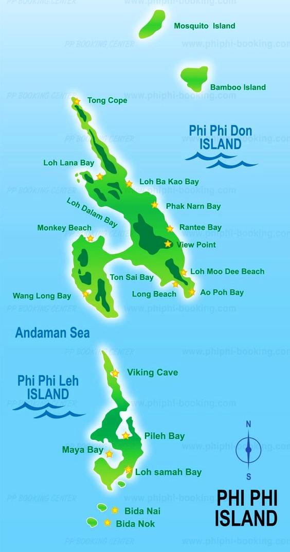 Mapa-Koh-Phi-Phi-Tailandia-Asia