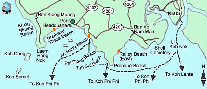 Mapa-de-Krabi-tailandia